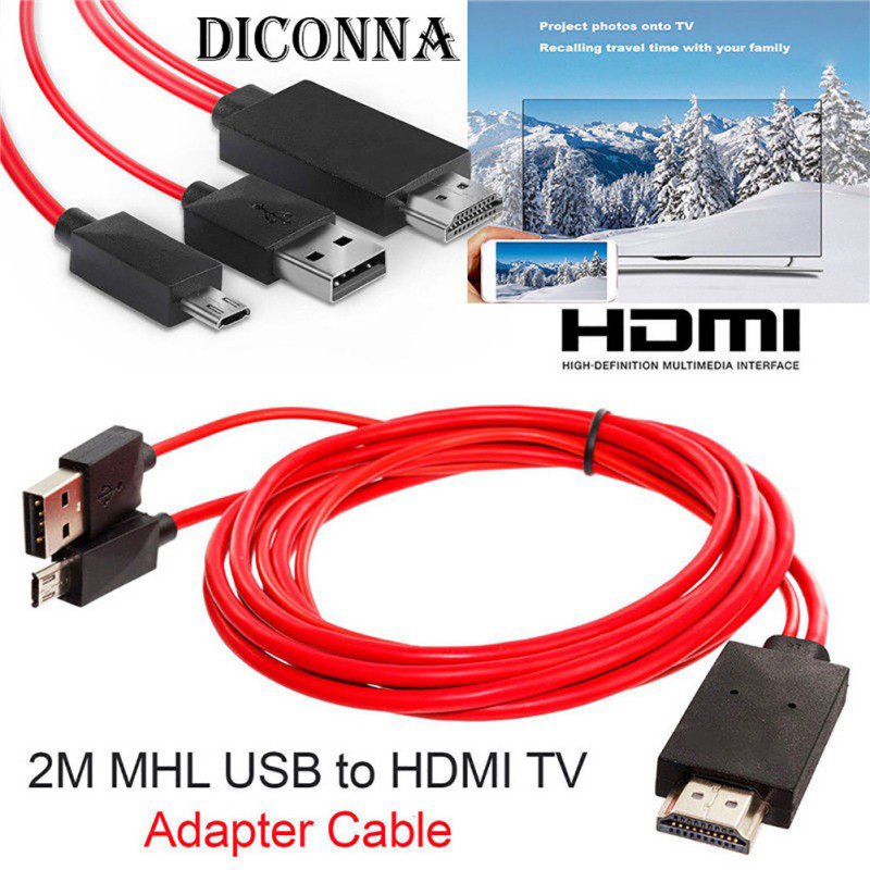 MHL Micro* USB to HDMI 1080P HD TV Cable Adapter for Android